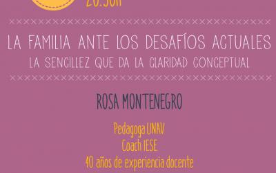 Cena coloquio con Rosa Montenegro